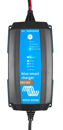 Victron Blue Smart IP65 Charger 24/8 + DC συνδετήρες